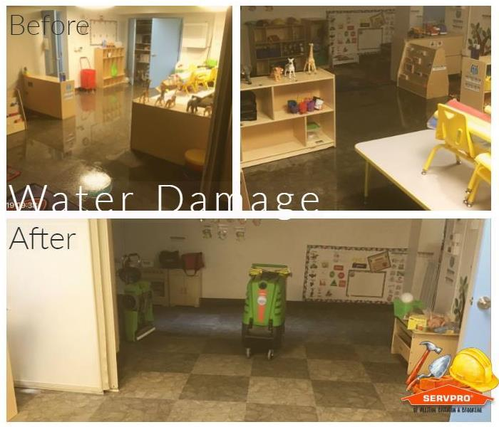 Before and After Flooded Daycare Center